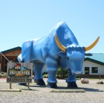 big blue ox statue