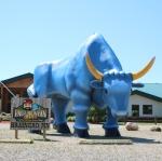 big blue ox statue